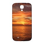 Sunset Sea Afterglow Boot Samsung Galaxy S4 I9500/I9505  Hardshell Back Case Front
