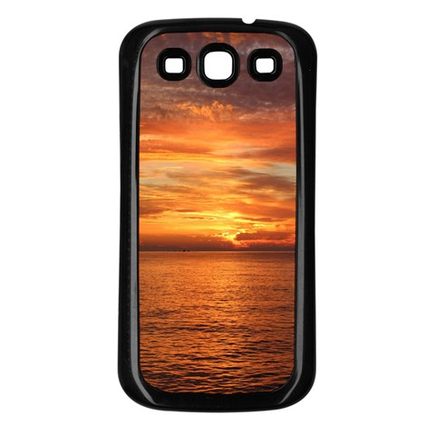 Sunset Sea Afterglow Boot Samsung Galaxy S3 Back Case (Black)