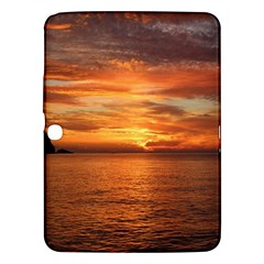 Sunset Sea Afterglow Boot Samsung Galaxy Tab 3 (10.1 ) P5200 Hardshell Case