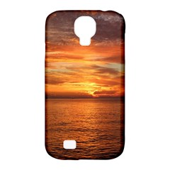 Sunset Sea Afterglow Boot Samsung Galaxy S4 Classic Hardshell Case (PC+Silicone)