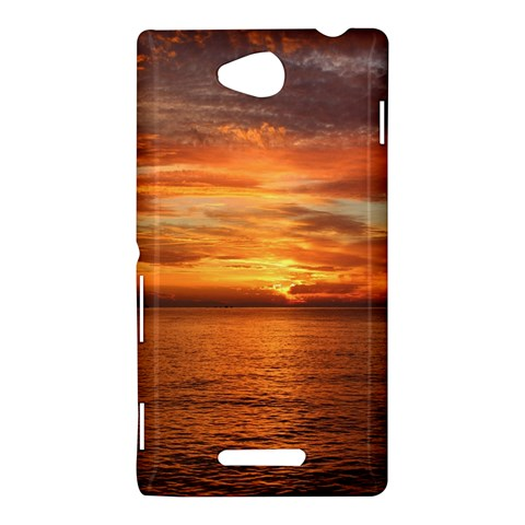Sunset Sea Afterglow Boot Sony Xperia C (S39H)