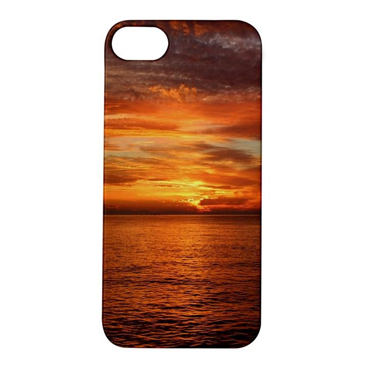 Sunset Sea Afterglow Boot Apple iPhone 5S/ SE Hardshell Case