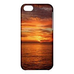 Sunset Sea Afterglow Boot Apple iPhone 5C Hardshell Case