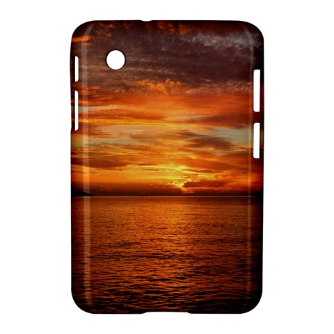 Sunset Sea Afterglow Boot Samsung Galaxy Tab 2 (7 ) P3100 Hardshell Case