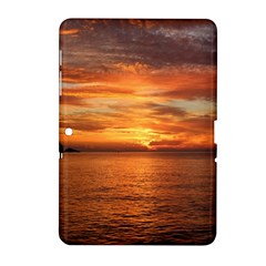 Sunset Sea Afterglow Boot Samsung Galaxy Tab 2 (10.1 ) P5100 Hardshell Case