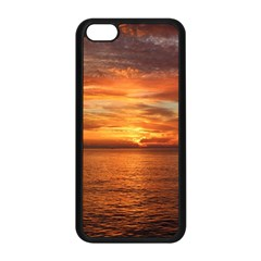 Sunset Sea Afterglow Boot Apple iPhone 5C Seamless Case (Black)