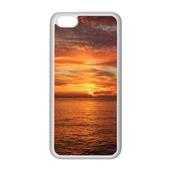 Sunset Sea Afterglow Boot Apple iPhone 5C Seamless Case (White)