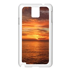 Sunset Sea Afterglow Boot Samsung Galaxy Note 3 N9005 Case (White)