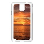 Sunset Sea Afterglow Boot Samsung Galaxy Note 3 N9005 Case (White) Front