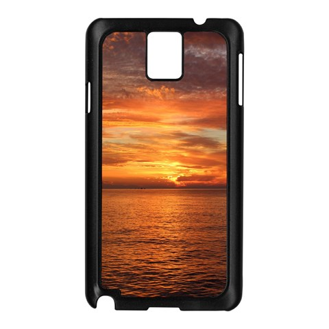 Sunset Sea Afterglow Boot Samsung Galaxy Note 3 N9005 Case (Black)