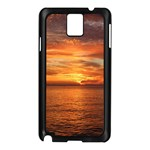 Sunset Sea Afterglow Boot Samsung Galaxy Note 3 N9005 Case (Black) Front