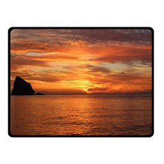 Sunset Sea Afterglow Boot Double Sided Fleece Blanket (Small)