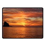 Sunset Sea Afterglow Boot Double Sided Fleece Blanket (Small)  50 x40 Blanket Back