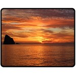 Sunset Sea Afterglow Boot Double Sided Fleece Blanket (Medium)  60 x50 Blanket Front