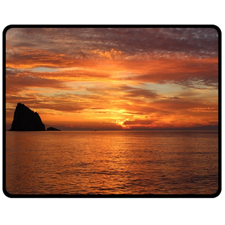 Sunset Sea Afterglow Boot Double Sided Fleece Blanket (Medium)