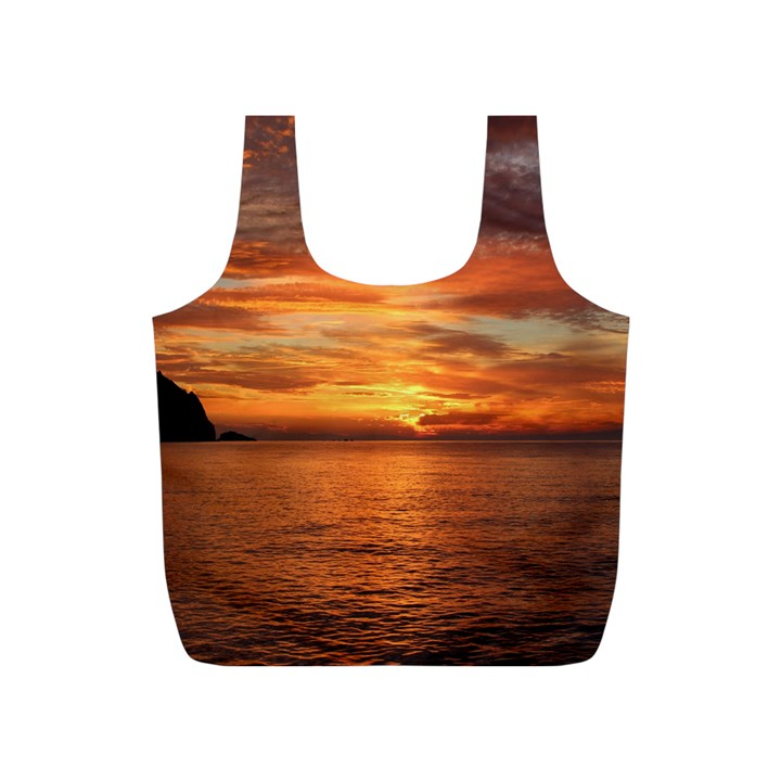 Sunset Sea Afterglow Boot Full Print Recycle Bags (S)