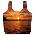 Sunset Sea Afterglow Boot Full Print Recycle Bags (L)  Back