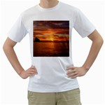 Sunset Sea Afterglow Boot Men s T-Shirt (White)  Front