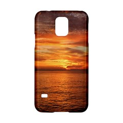 Sunset Sea Afterglow Boot Samsung Galaxy S5 Hardshell Case