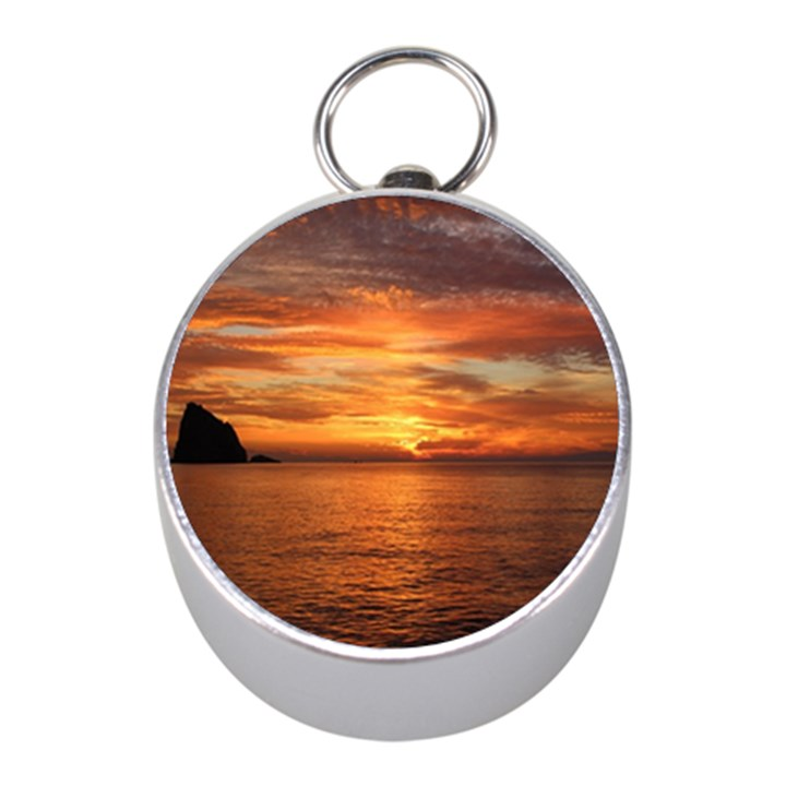 Sunset Sea Afterglow Boot Mini Silver Compasses