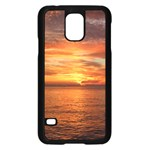 Sunset Sea Afterglow Boot Samsung Galaxy S5 Case (Black) Front