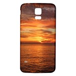 Sunset Sea Afterglow Boot Samsung Galaxy S5 Back Case (White) Front