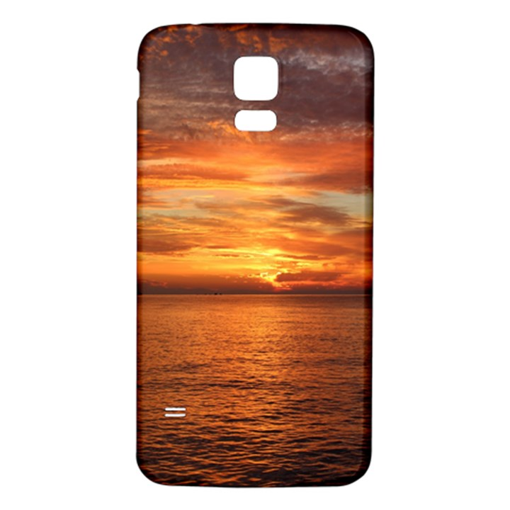 Sunset Sea Afterglow Boot Samsung Galaxy S5 Back Case (White)