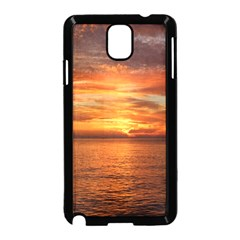 Sunset Sea Afterglow Boot Samsung Galaxy Note 3 Neo Hardshell Case (Black)