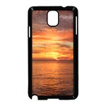 Sunset Sea Afterglow Boot Samsung Galaxy Note 3 Neo Hardshell Case (Black) Front