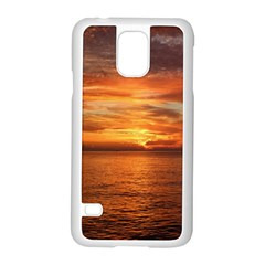 Sunset Sea Afterglow Boot Samsung Galaxy S5 Case (White)