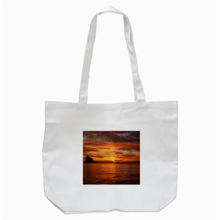 Sunset Sea Afterglow Boot Tote Bag (White)