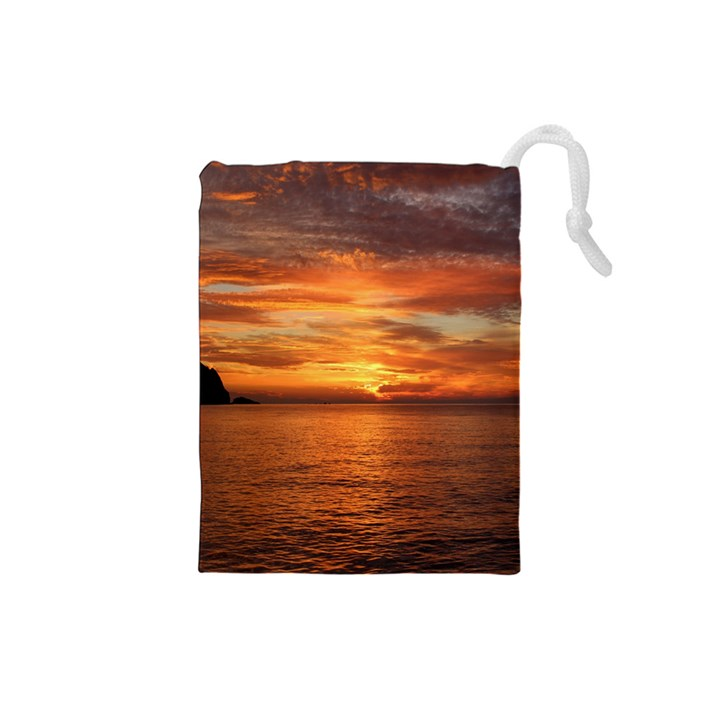 Sunset Sea Afterglow Boot Drawstring Pouches (Small)