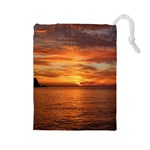 Sunset Sea Afterglow Boot Drawstring Pouches (Large)  Front