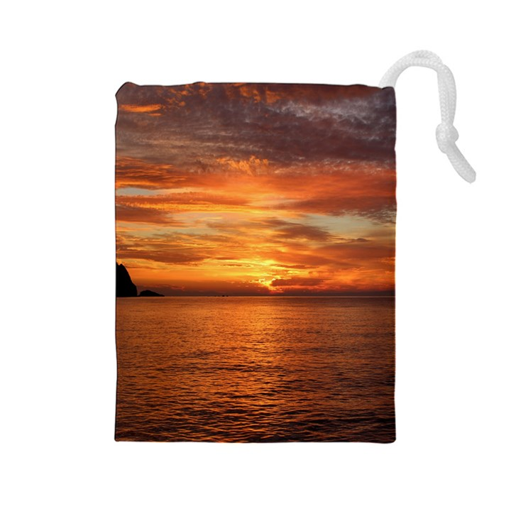Sunset Sea Afterglow Boot Drawstring Pouches (Large)