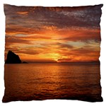 Sunset Sea Afterglow Boot Large Flano Cushion Case (Two Sides) Front