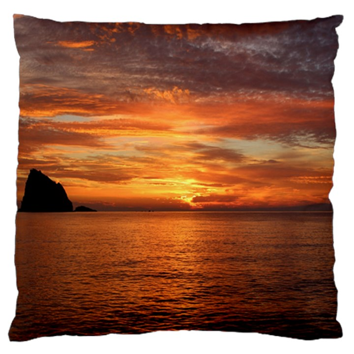 Sunset Sea Afterglow Boot Large Flano Cushion Case (Two Sides)