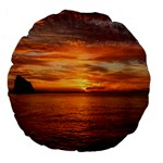 Sunset Sea Afterglow Boot Large 18  Premium Flano Round Cushions Front