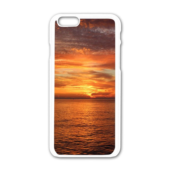 Sunset Sea Afterglow Boot Apple iPhone 6/6S White Enamel Case