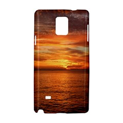 Sunset Sea Afterglow Boot Samsung Galaxy Note 4 Hardshell Case