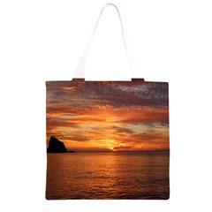 Sunset Sea Afterglow Boot Grocery Light Tote Bag