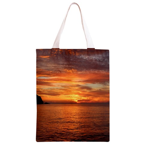 Sunset Sea Afterglow Boot Classic Light Tote Bag