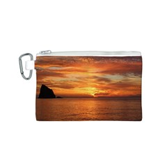 Sunset Sea Afterglow Boot Canvas Cosmetic Bag (S)
