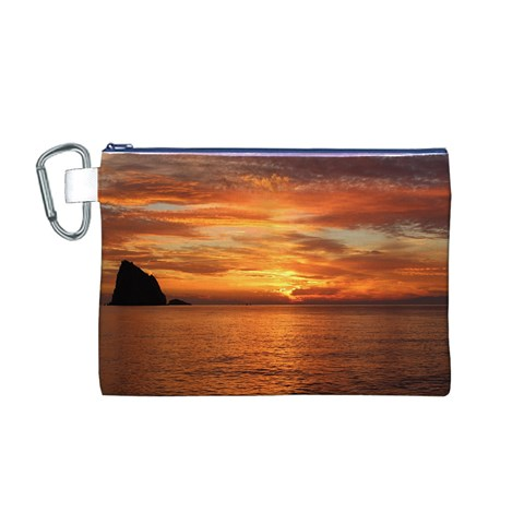 Sunset Sea Afterglow Boot Canvas Cosmetic Bag (M)