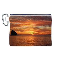 Sunset Sea Afterglow Boot Canvas Cosmetic Bag (L)