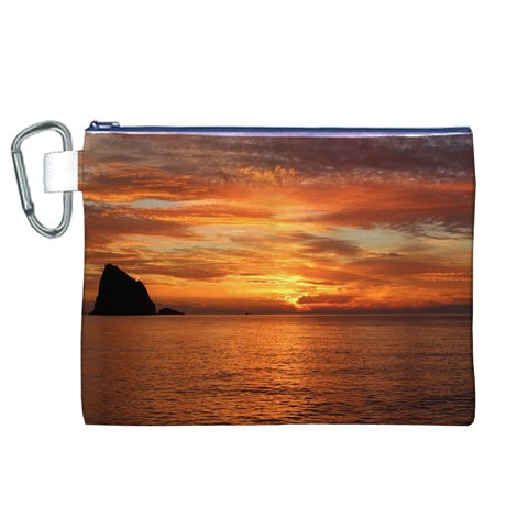 Sunset Sea Afterglow Boot Canvas Cosmetic Bag (XL)