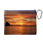 Sunset Sea Afterglow Boot Canvas Cosmetic Bag (XL) Back