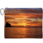 Sunset Sea Afterglow Boot Canvas Cosmetic Bag (XXXL) Front
