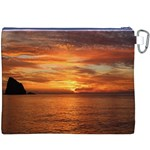 Sunset Sea Afterglow Boot Canvas Cosmetic Bag (XXXL) Back
