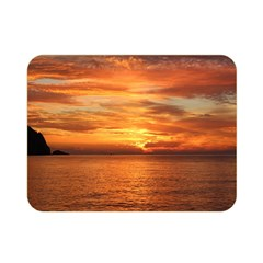 Sunset Sea Afterglow Boot Double Sided Flano Blanket (Mini)