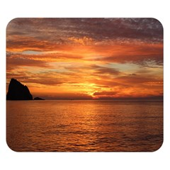 Sunset Sea Afterglow Boot Double Sided Flano Blanket (Small)